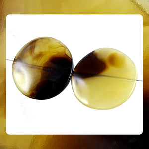 Italian Resin Beads: Set Of 2