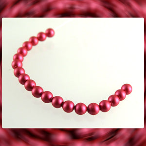 Swarovski Crystal Pearls: 3mm / Mulberry Pink / Bag of 20 Pieces (5810)
