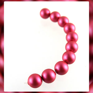 Swarovski Crystal Pearls: 6mm / Mulberry Pink / Bag of 10 Pieces (5810)
