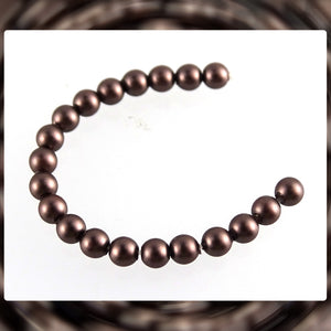 Swarovski Crystal Pearls: 3mm / Brown Velvet / Bag of 20 Pieces (5810)