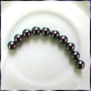 Swarovski Crystal Pearls: 6mm / Iris. Purple / Bag of 10 Pieces (5810)