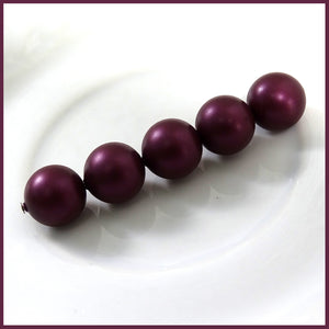 Swarovski Crystal Pearls: 10mm / Bordeaux / Bag of 5 Pieces (5810)