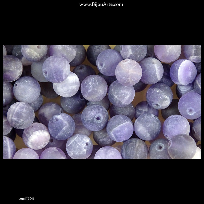 Semi-Precious Stones: Amethyst - Matte Finish (Pack of 10)