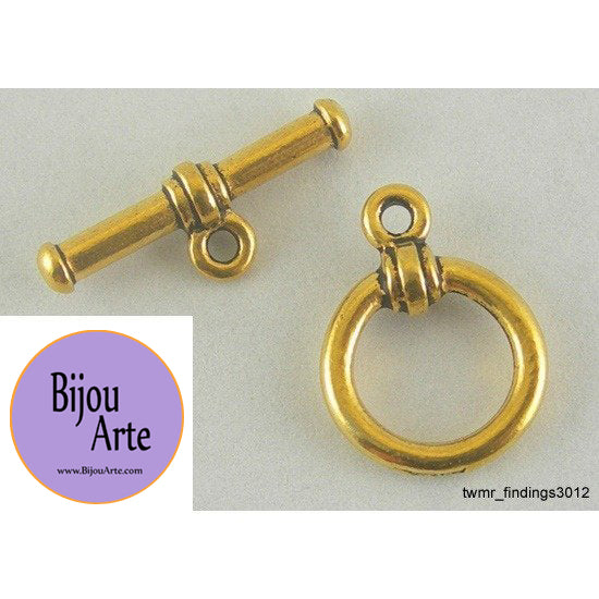 Gold-Plated Pewter Toggle Clasp (Lead Free)
