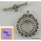 Silver-Plated Pewter Toggle Clasp (Lead Free)