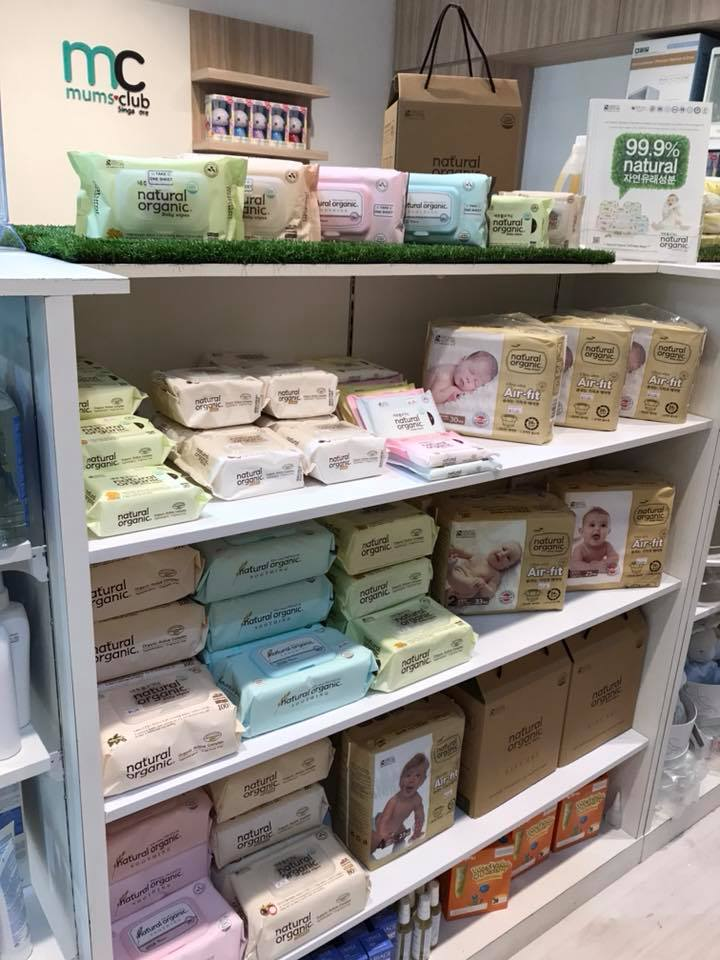Organic wetwipes and diapers @ MumsClub Mt Alvernia