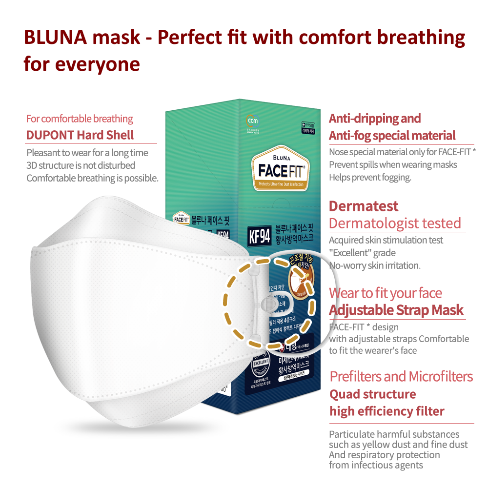BLUNA 3D FaceFit mask [KF94] - Kids
