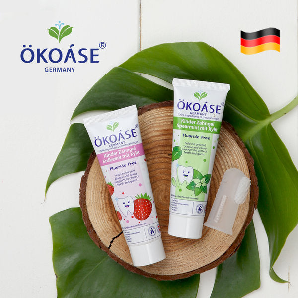 OKOASE 100% Natural Organic Fluoride-Free Mint ToothGel 50g(6 months to 24 months old)