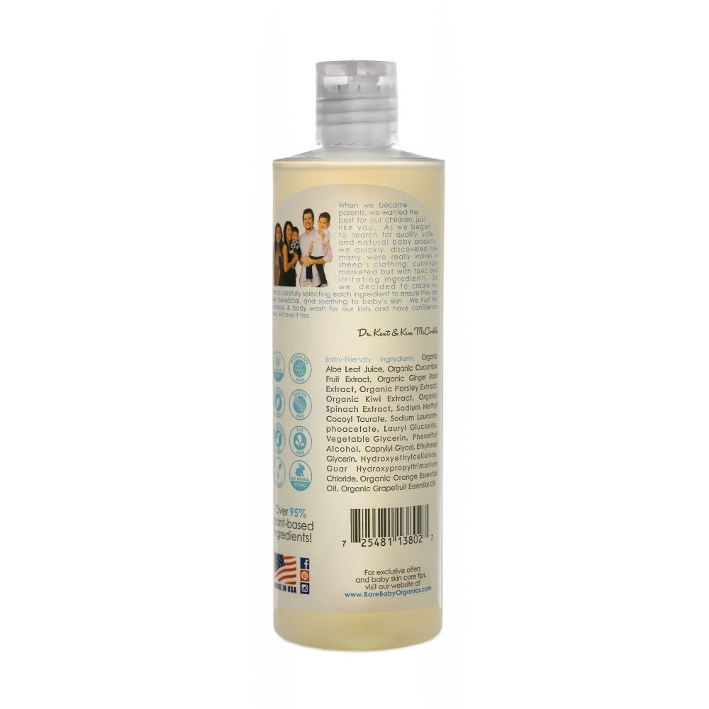 BareBaby Organics Premium Shampoo & Body Wash 530ml