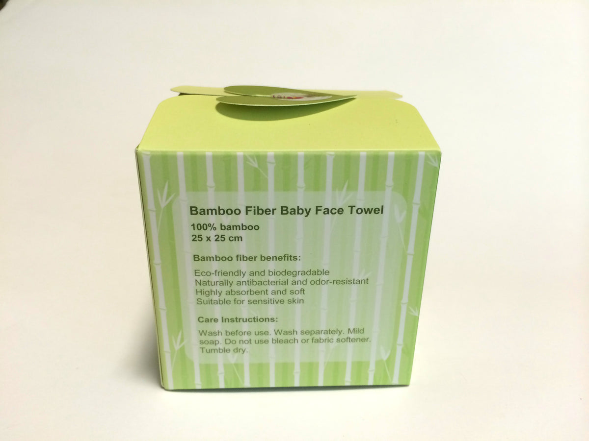 Bamboo Fiber Face Towel/Wash Cloth Gift Set !