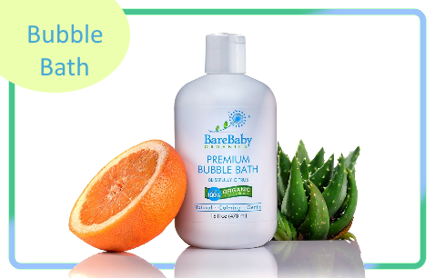 BareBaby Organics Premium Bubble Bath Blissfully Citrus 473ml