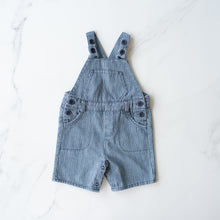 Load image into Gallery viewer, Teeny Weeny Denim Pinstripe Overalls