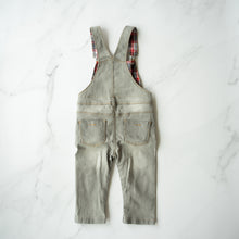 Load image into Gallery viewer, Plum Grey Denim Overalls