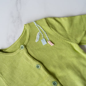 Green Embroidered Detail Cardigan