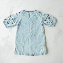 Load image into Gallery viewer, Light Denim Embroidered Dress
