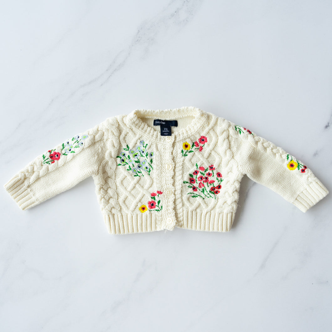 Gap Embroidered Cotton Cardigan