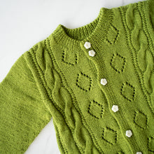 Load image into Gallery viewer, Granny Smith Handknit Cardigan