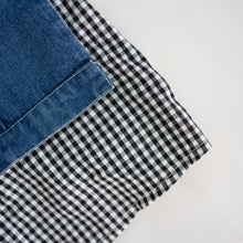 Load image into Gallery viewer, Denim Gingham Detail Jacket