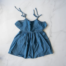 Load image into Gallery viewer, Denim Ruffle Tie Top Dress