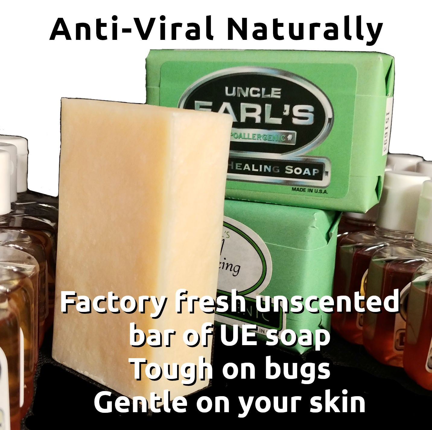 factory fresh UE anti-viral bar soap