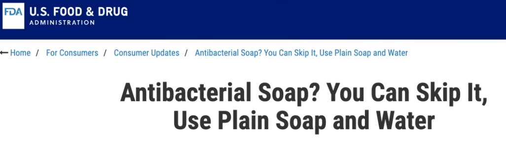 don't be fooled by anti-bacterial claims