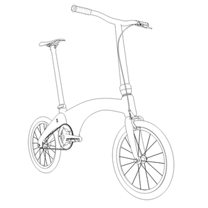 Hummingbird electric bike sketch