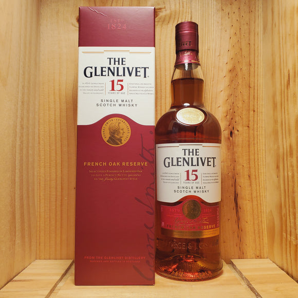 The Glenlivet Scotch Single Malt 15 Year 750ml
