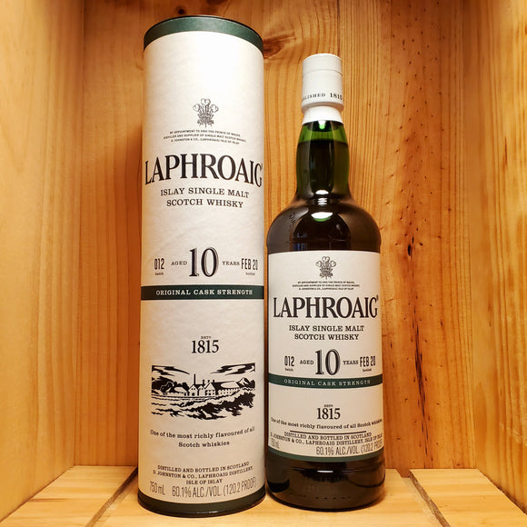 Laphroaig 10 Year old Cask Strength 120.2 proof 750ml