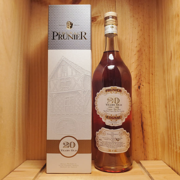 Prunier 20 Years Old Cognac 750ml
