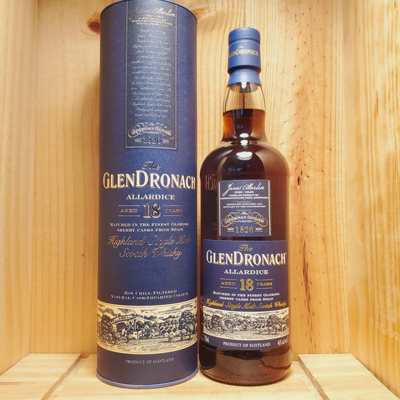 The Glendronach Scotch Single Malt 18 Year Allardice 750ml