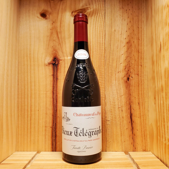 Vieux Telegraphe Chateauneuf du Pape 2015 - Chateauneuf du Pape, France - Blend 750ml