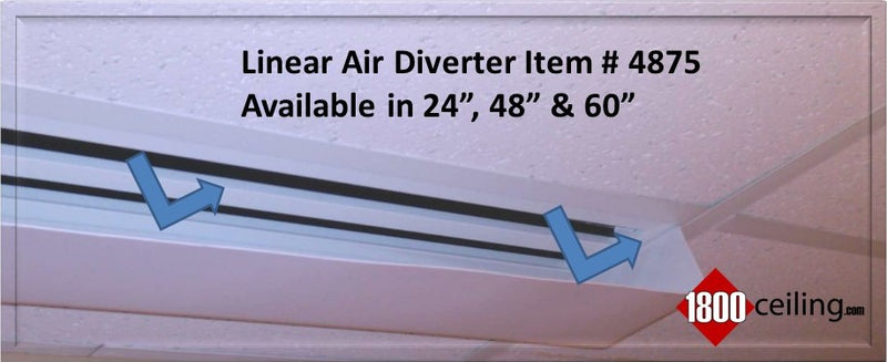 White Plastic LINEAR AIR DEFLECTORS & DIVERTERS