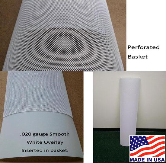 White Inserts for Lighting Perforated Baskets