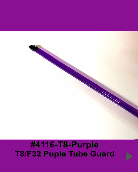 4' Purple Tube Guard for T8-F32 Bulb - 1800ceiling