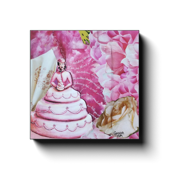 Canvas Wrap - She Dreamt of Becoming a Cake.