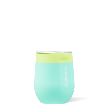 Stemless Wine Tumbler in Limeade Colorblock by Corkcicle