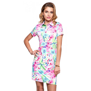 Polo Dress in Annie Pink