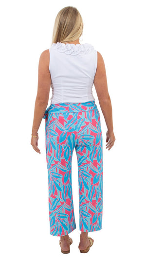 Dorothy Pants in Tropical Breeze Blue/pink by Sailor Sailor