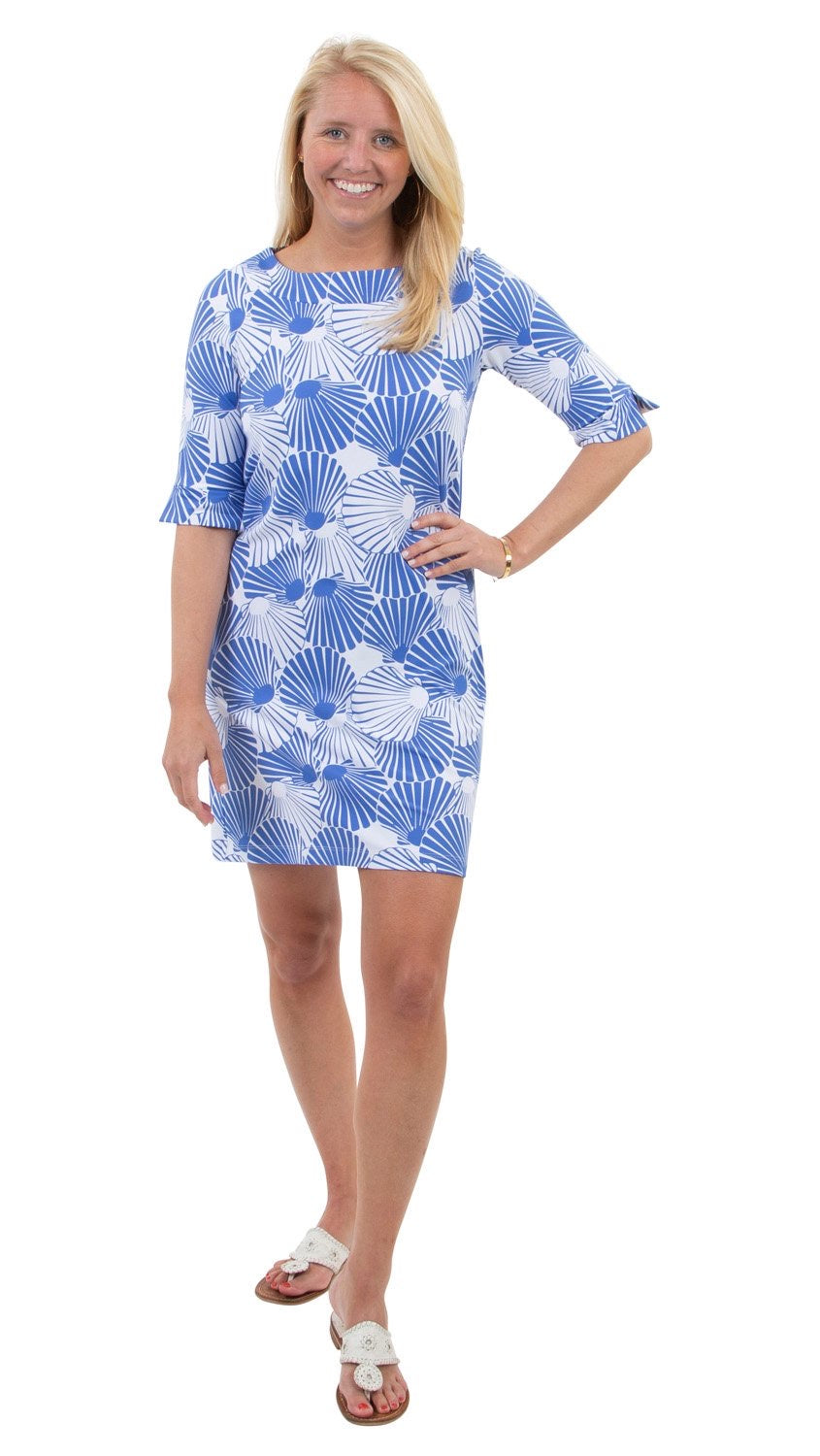 Yacht Club Shift in Blue Scattered Scallops by sailor sailor