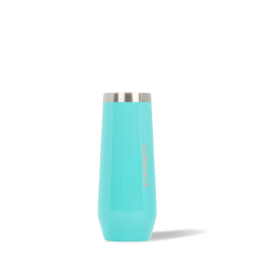 7oz Stemless Flute in Turquoise by Corkcicle