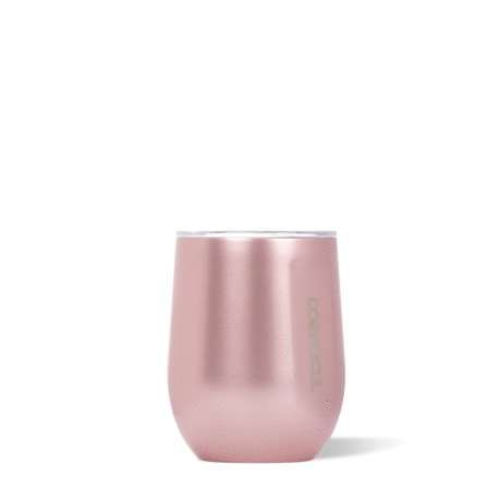 12 oz Stemless Wine Tumbler in Rose Metallic by Corkcicle
