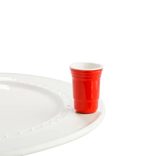 Red Solo Cup Fill Me Up Mini by Nora Fleming