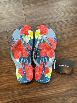 I Love Sun Flip Flop in Blue/Pink by Ipanema