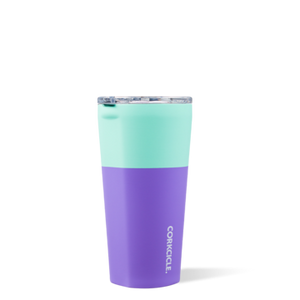 16 oz Tumbler in Mint Berry Colorblock by Corkcicle