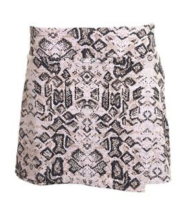 Faux wrap Print Skort in Iggy Natural  by IBKUL