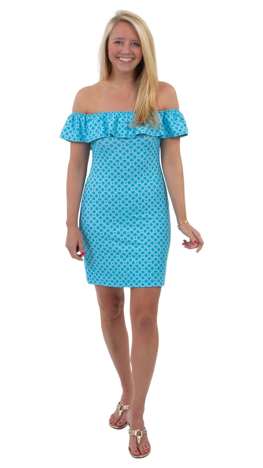 Shoreline Dress in Blue Bamboozled by Sailor Sailor