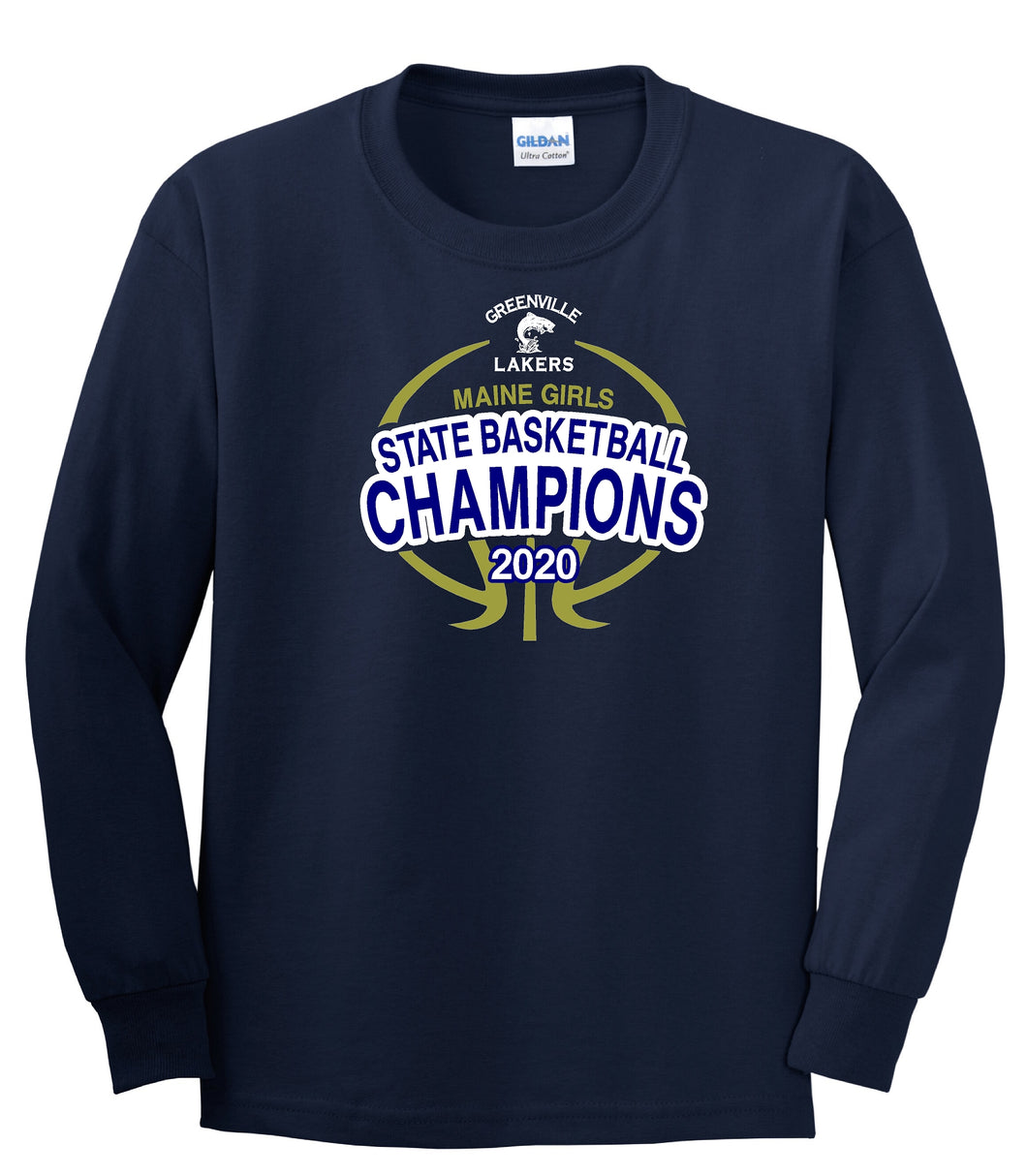 Lakers Girls Basketball Champions Long Sleeve T-Shirt - YOUTH