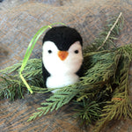 Load image into Gallery viewer, Felted Penguin Ornament