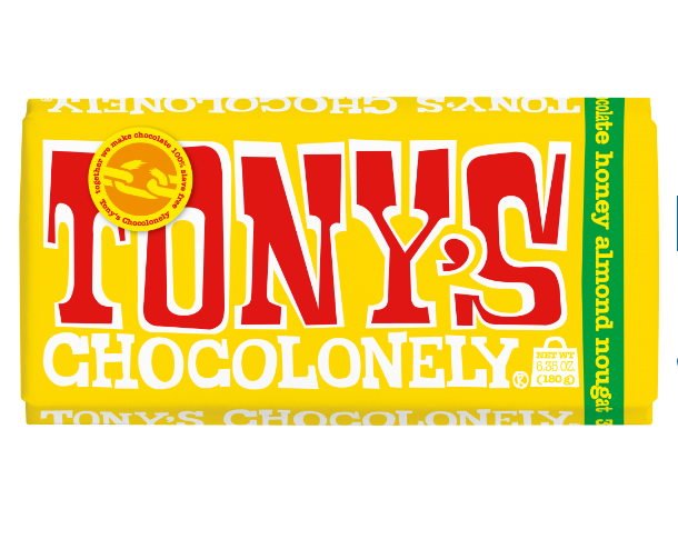 Tony's Milk Honey Almond Chocolate Bar