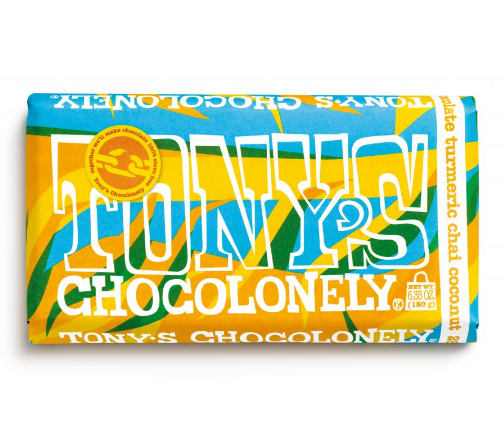 Tony's White Turmeric Chai Coconut Chocolate Bar
